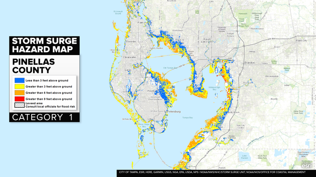 HURRICANE IRMA: Bay Area storm surge maps on