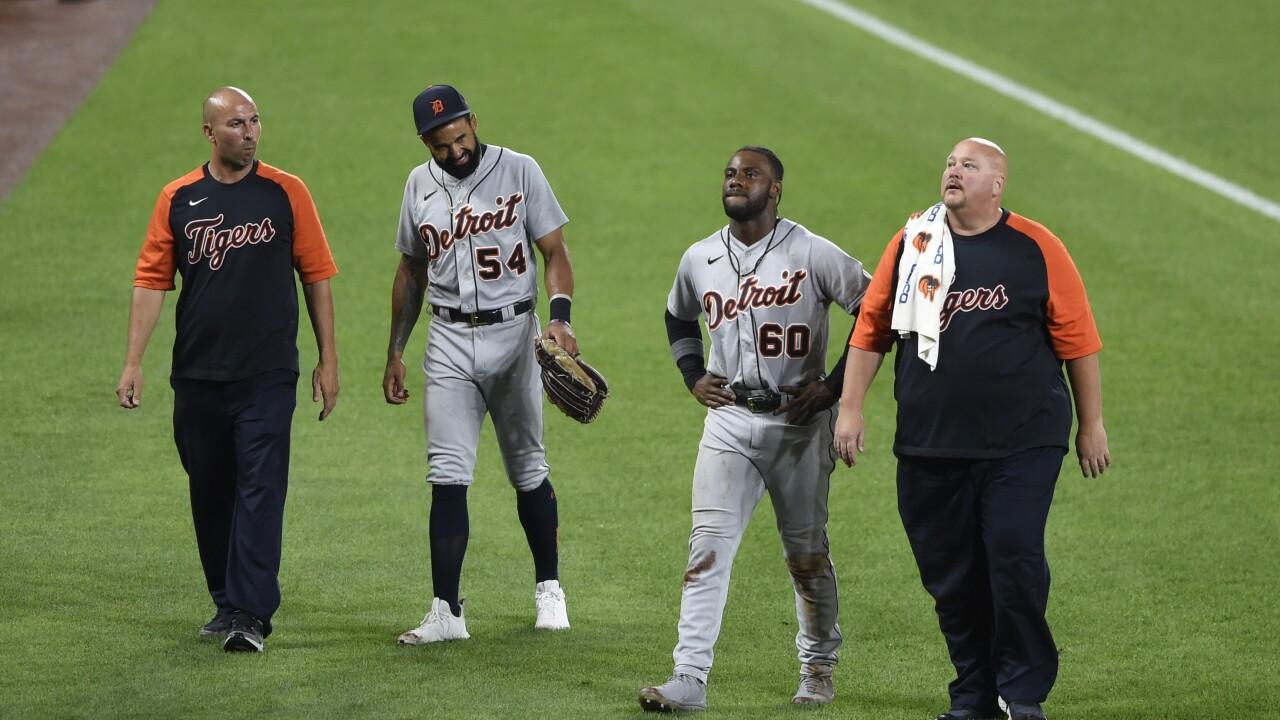 Derek Hill, Akil Baddoo Tigers Orioles Baseball