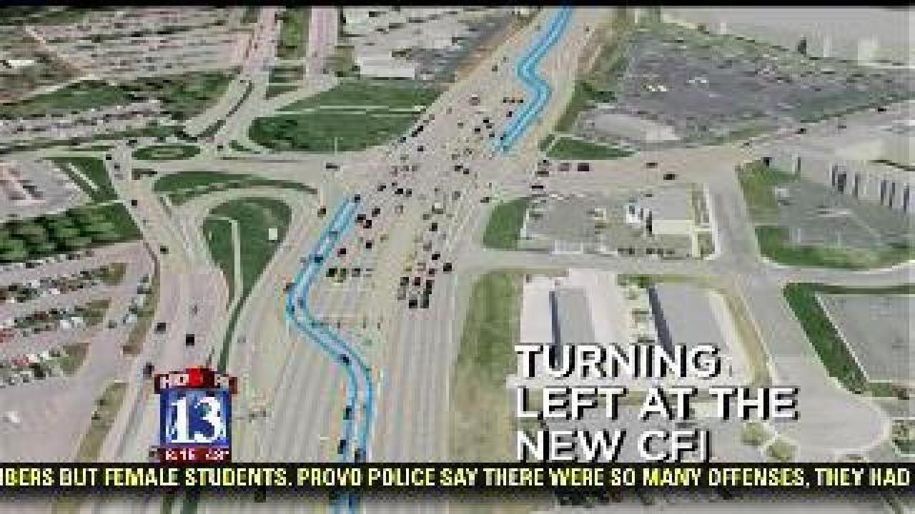 First continuous flow intersection to open in Utah Co.