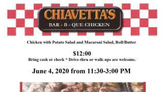 Chiavetta's putting on a BBQ to benefit the Salvation Army