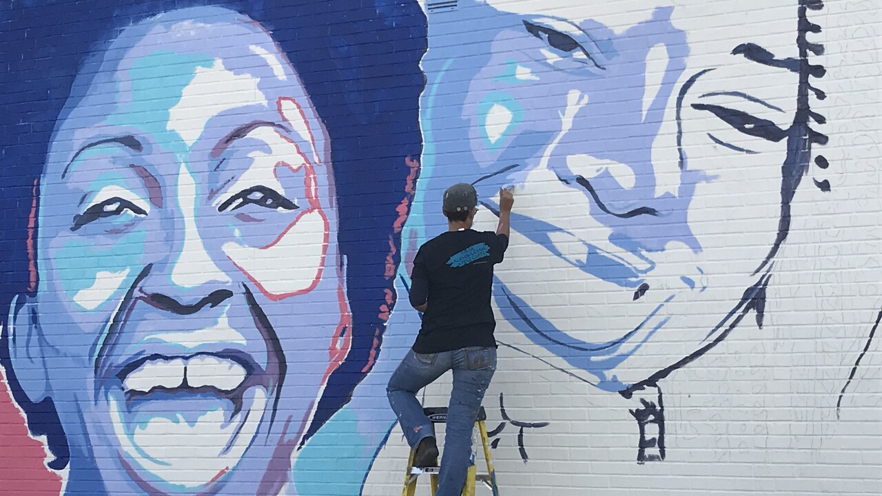 National painter features Hampton Roads women in new mural