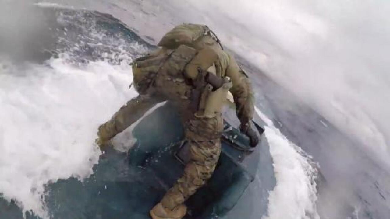 Watch the US Coast Guard board a narco-sub carrying 17,000 pounds of cocaine