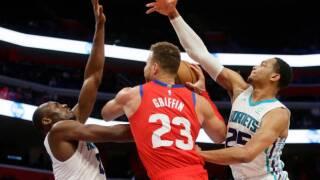 Hornets edge Pistons for ninth straight win over Detroit