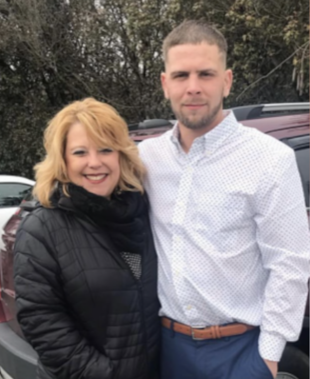 Lisa Wallace and her son, Luke Wazeka