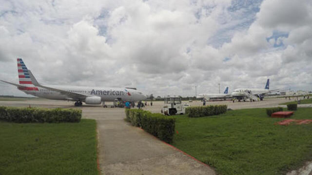 First commercial flight from US lands in Cuba