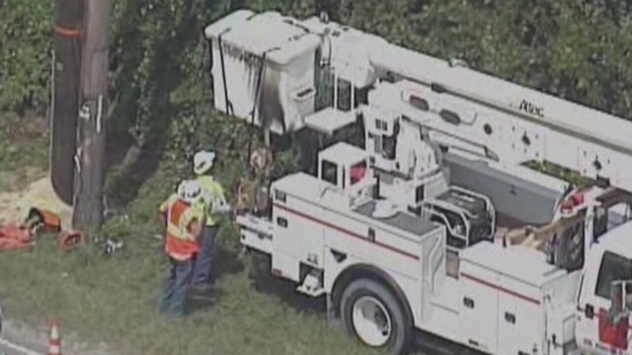 Power line worker electrocuted in Seffner