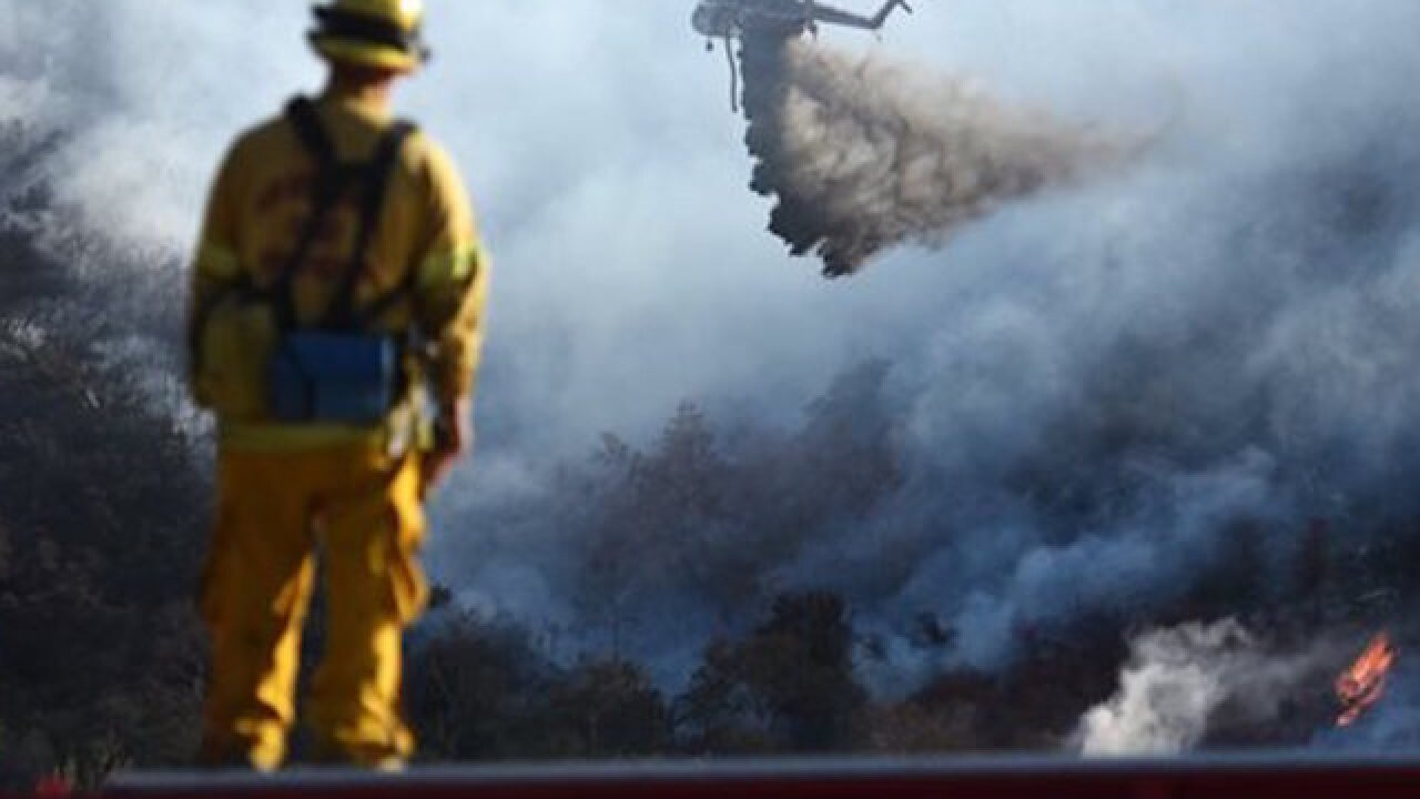 Crews make major gains against Southern California wildfire
