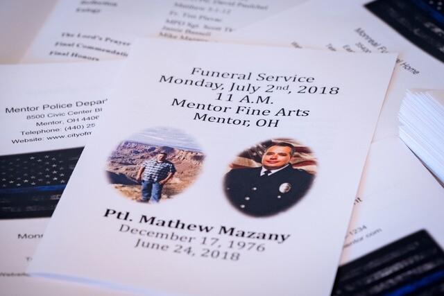 PHOTOS: Mentor lays fallen officer Mathew Mazany to rest