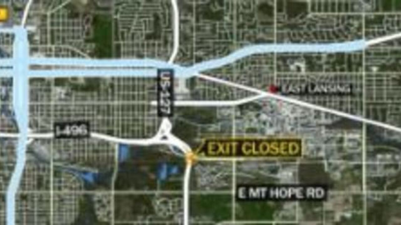 Exit to Trowbridge in East Lansing closed Thursday morning