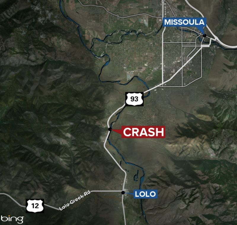 Crash between Lolo and Missoula