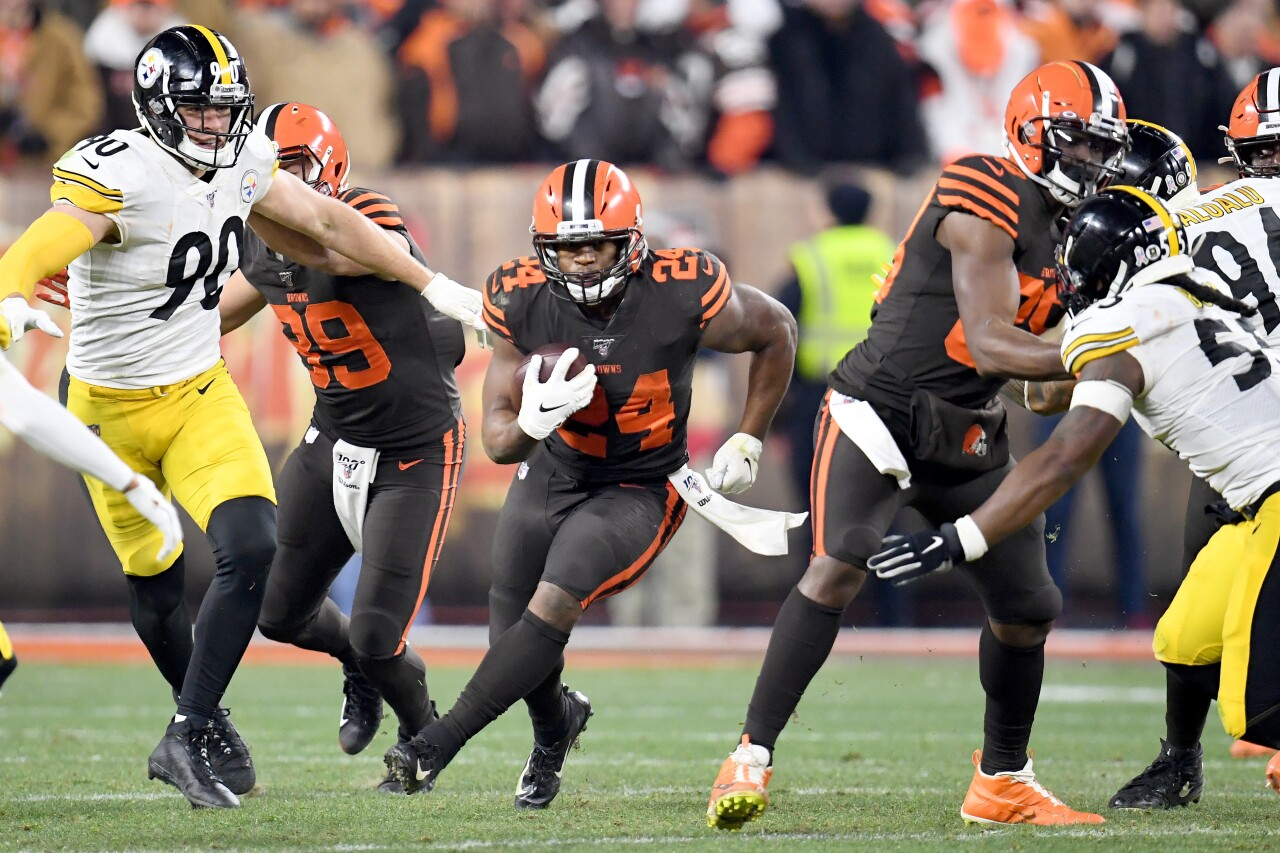 Pittsburgh Steelers v Cleveland Browns Nick Chubb