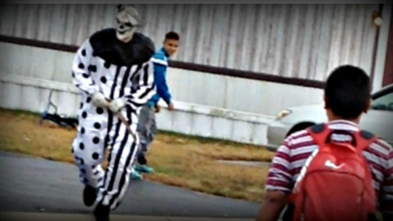 'Killer clown' who chased children at bus stop was a 'prank' momsays