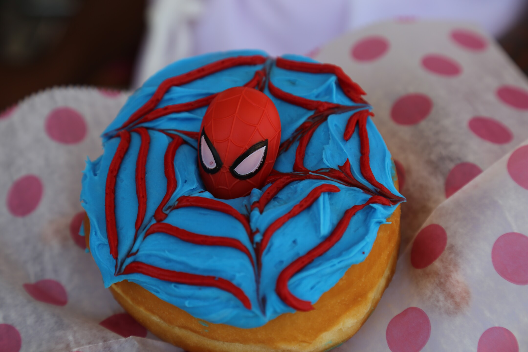 Spider Man donut from Fluffy Donuts