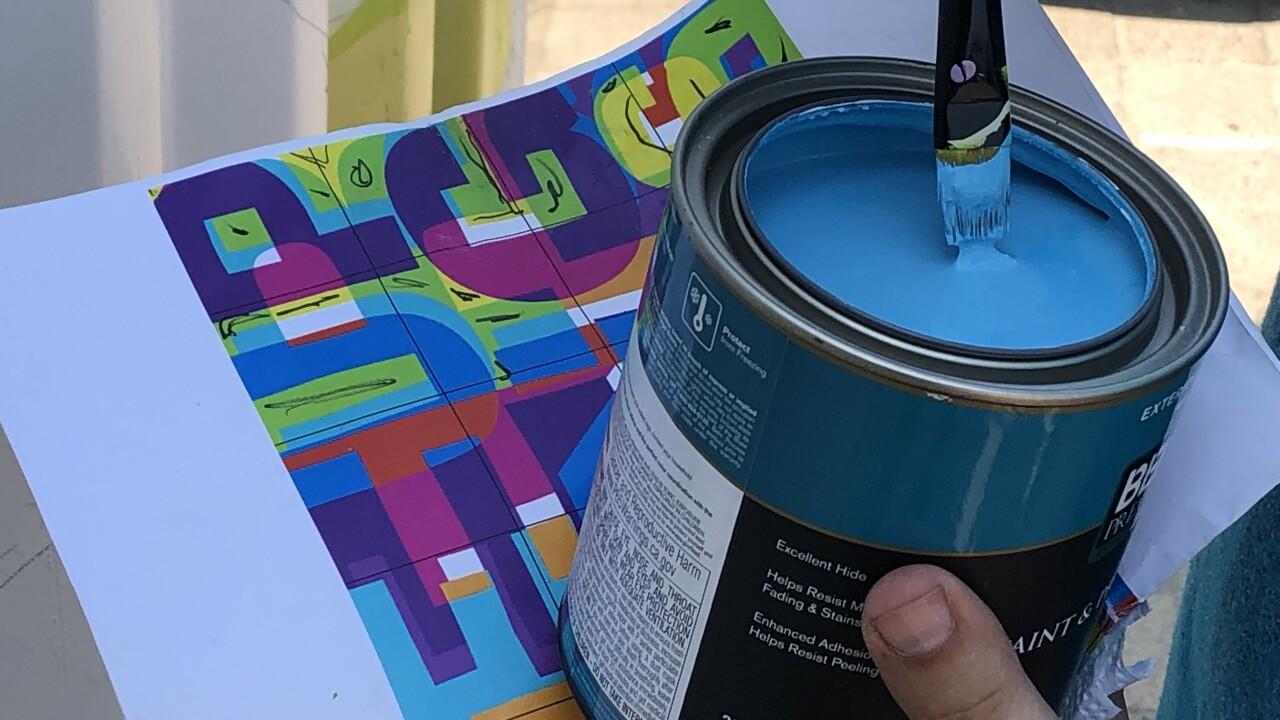 Florida artist creates Baker Mayfield mural