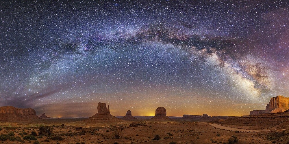 Milky Way over Monument Valley by John Vermette