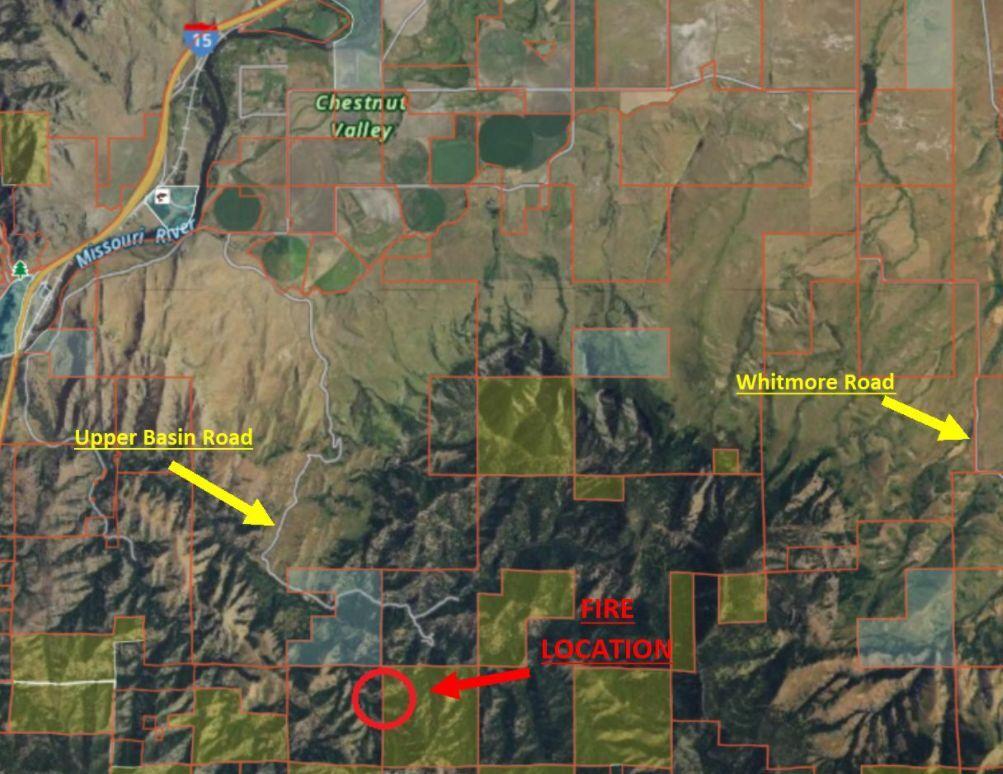 Harris Fire map