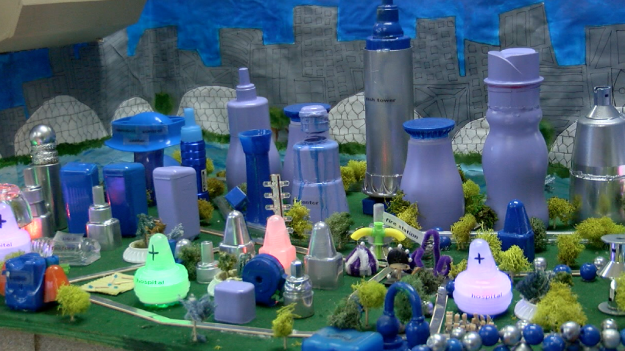The city of Aquawen, designed and built by 8th grade Batavia Middle School students