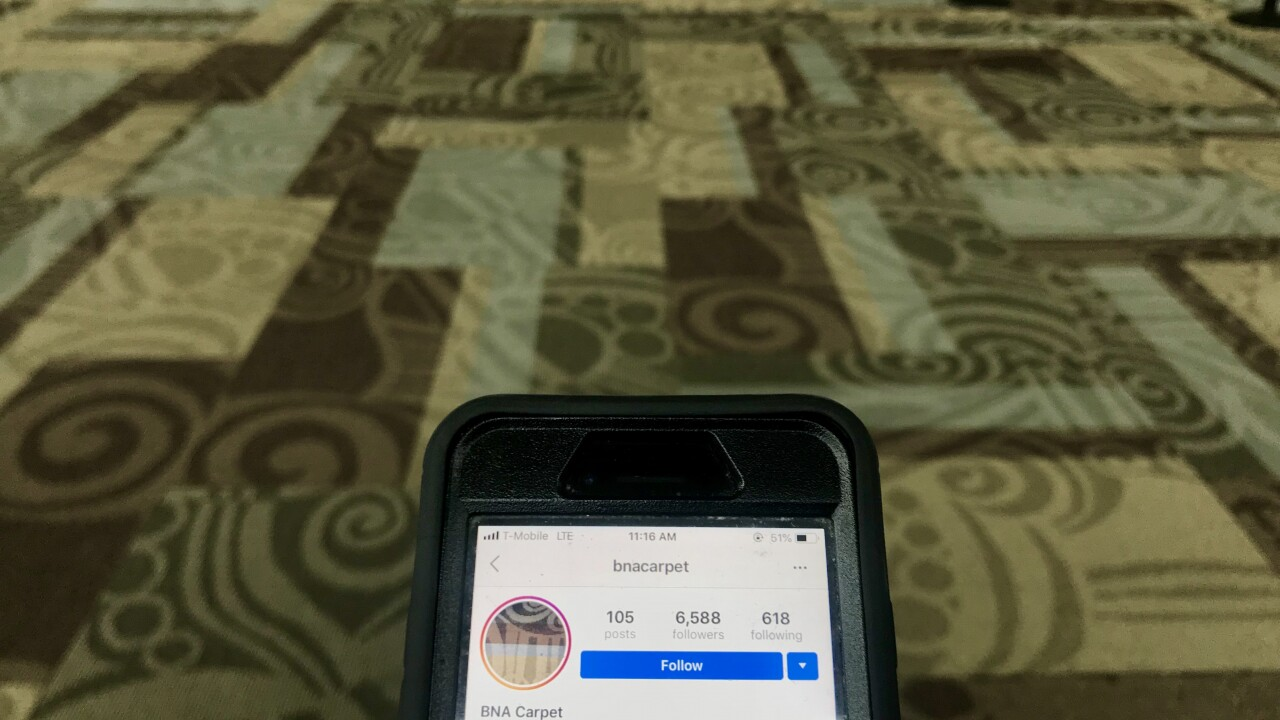 Carpet at Nashville International Airport gains popularity on social media