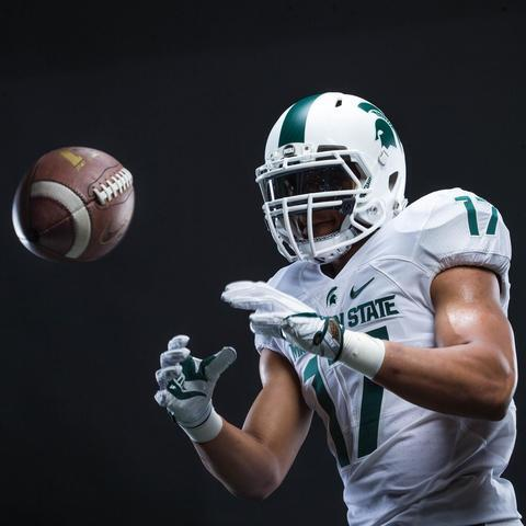 Photo gallery: Michigan State football unveils all-white helmet