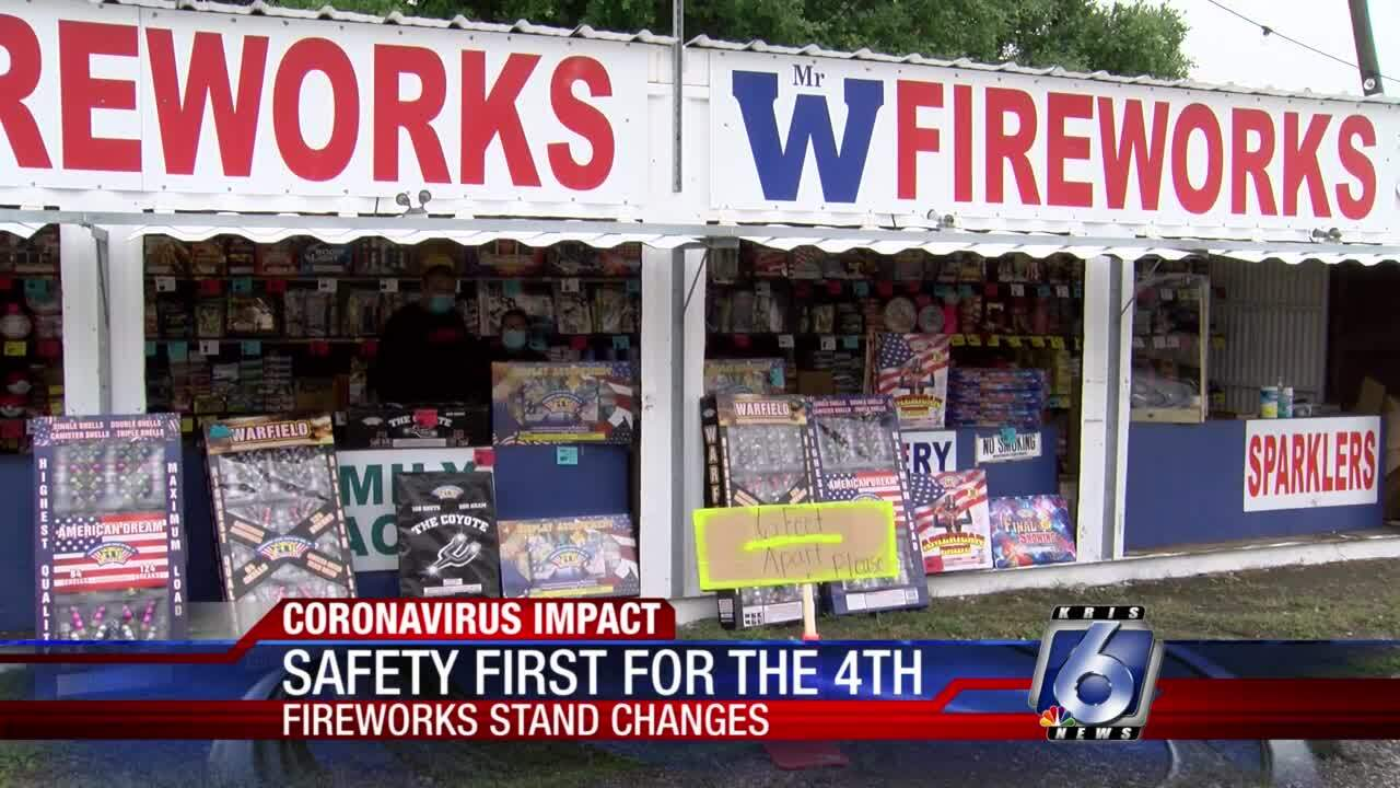 Fireworks stands adjusting to pandemic