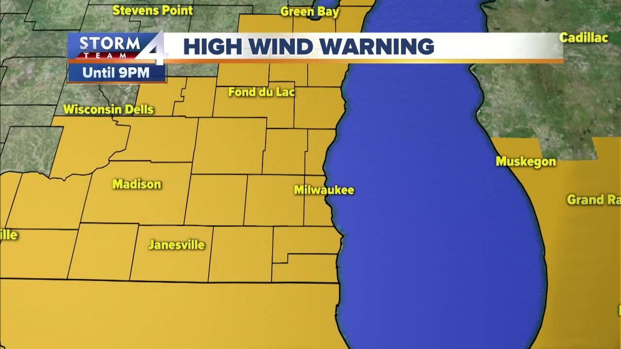 HIGH WIND WARNING FOR ALL SE WI ON SUNDAY