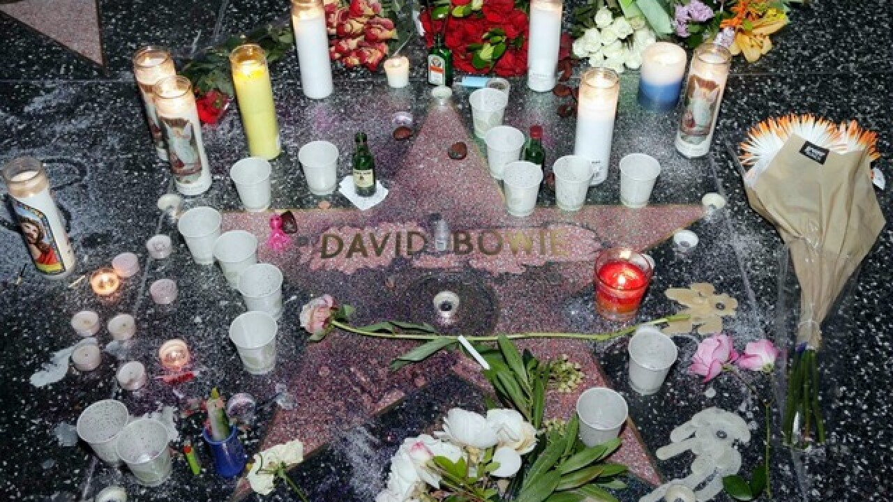 Memorial grows at David Bowie's Hollywood star
