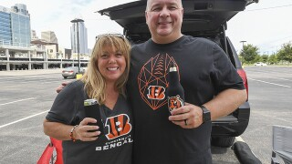 Bengals fans tailgate first preseason game