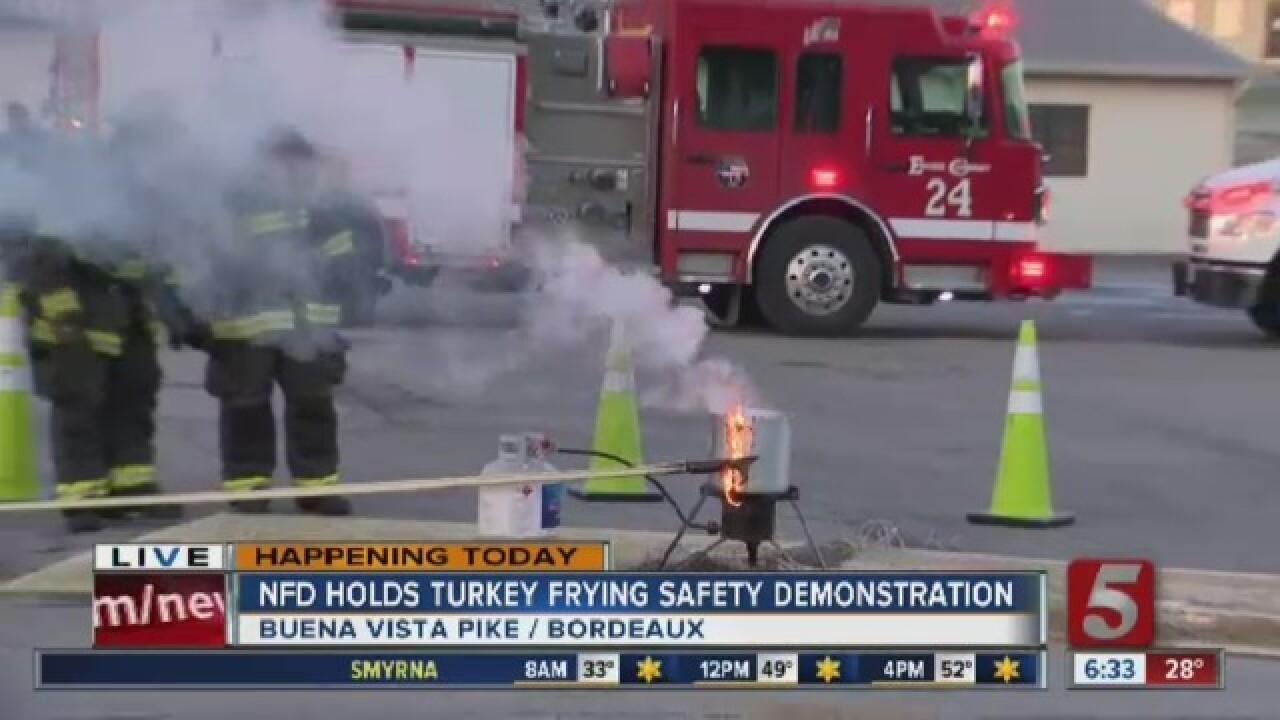 Nashville firefighters warn of turkey frying dangers