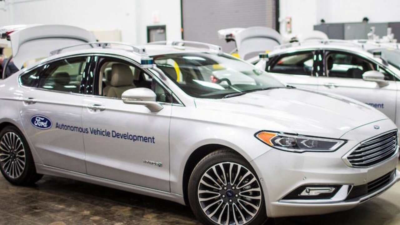 Ford unveils sleeker self-driving Fusion