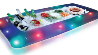 This Light-Up Buffet Cooler Pool Float Is Ridiculously Perfect For Summer Parties