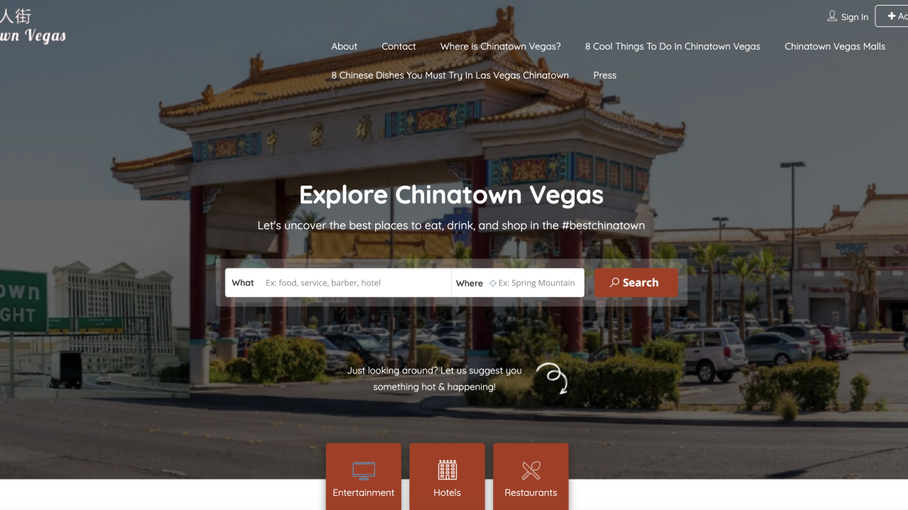 Chinatown Vegas website