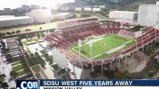 SDSU West five years away