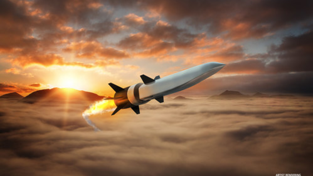 Raytheon Missiles & Defense and Northrop Grumman successfully test-fired a hypersonic weapon. Photo courtesy Raytheon.