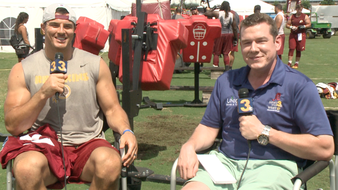 Just Kerr-ying on: Wink goes 1-on-1 with Redskins linebacker Ryan Kerrigan