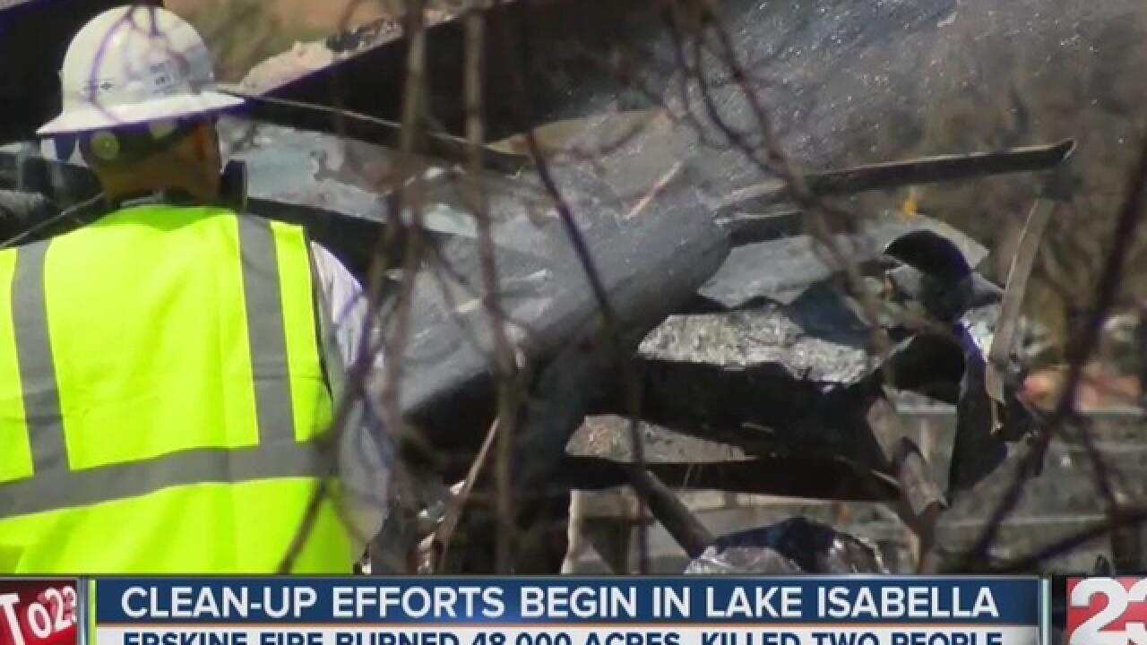 Erskine Fire debris removal begins