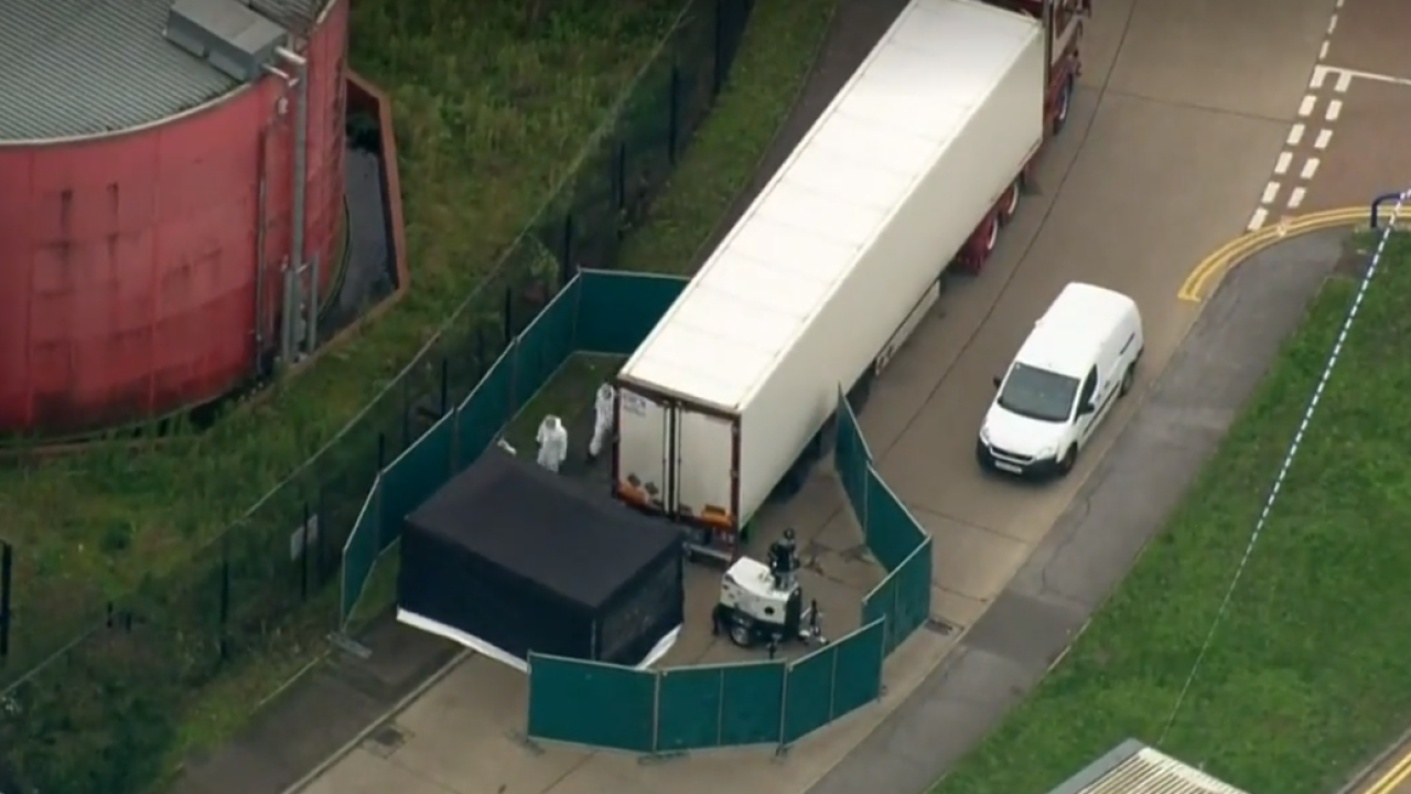 Murder probe launched after 39 bodies found in truck container in southeast England