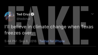 Fake Ted Cruz tweet