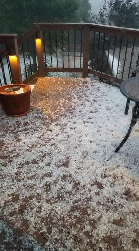 Small hail in Fountain
