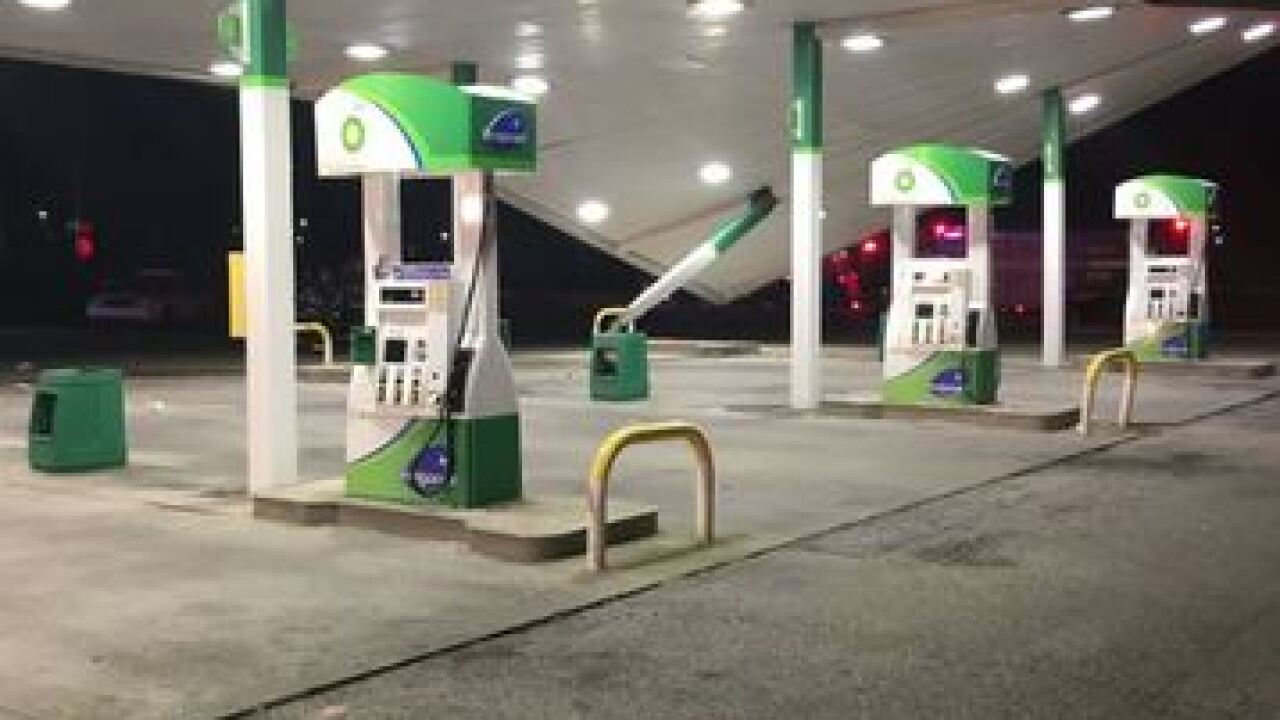 Driver crashes into eastside gas station