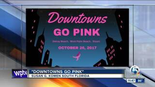 Downtowns Go Pink in Palm Beach County on Oct. 26