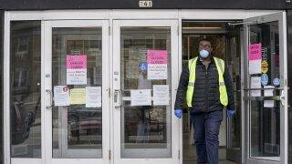 AP photo Wisconsin building closed coronavirus.jpeg