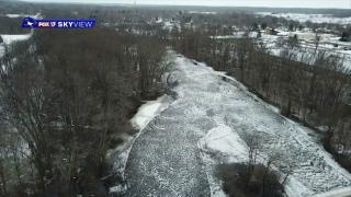 Kalamazoo River levels dropping after ice jam