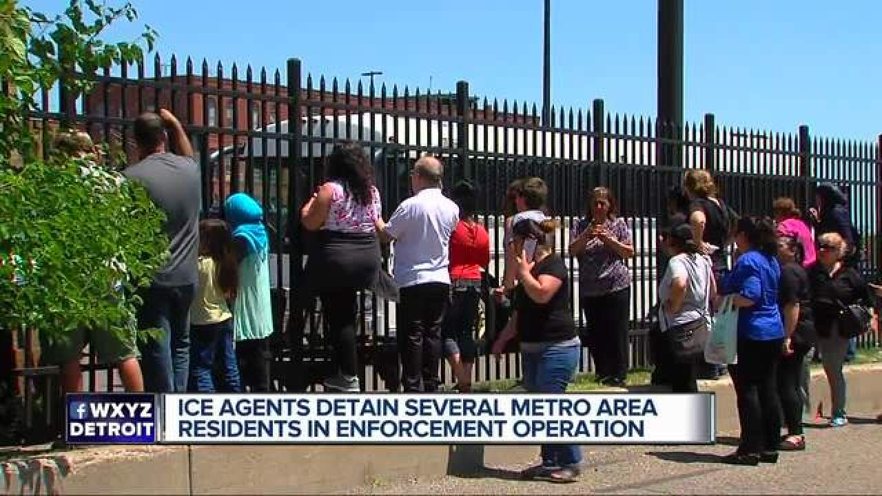 Dozens detained by ICE agents in metro Detroit