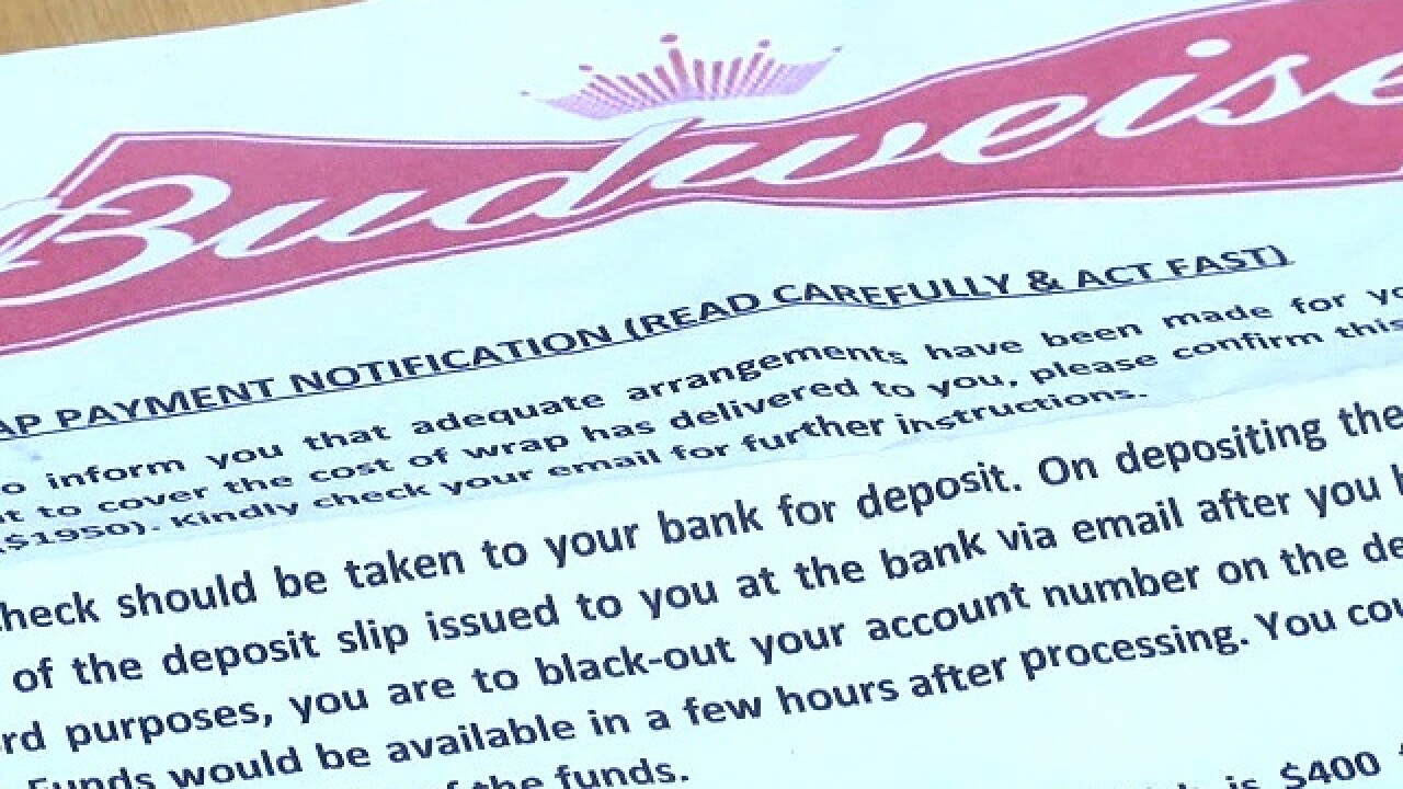 Man falls for fake check scam
