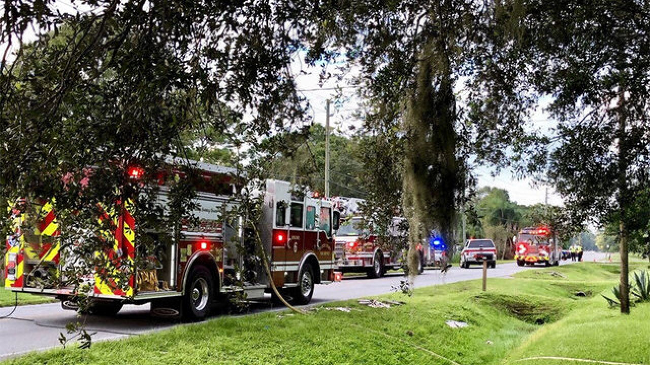Elderly woman critically hurt in St. Lucie County house fire