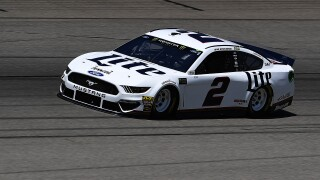 Brad_Keselowski_Monster Energy NASCAR Cup Series FireKeepers Casino 400 - Day 1 Practice