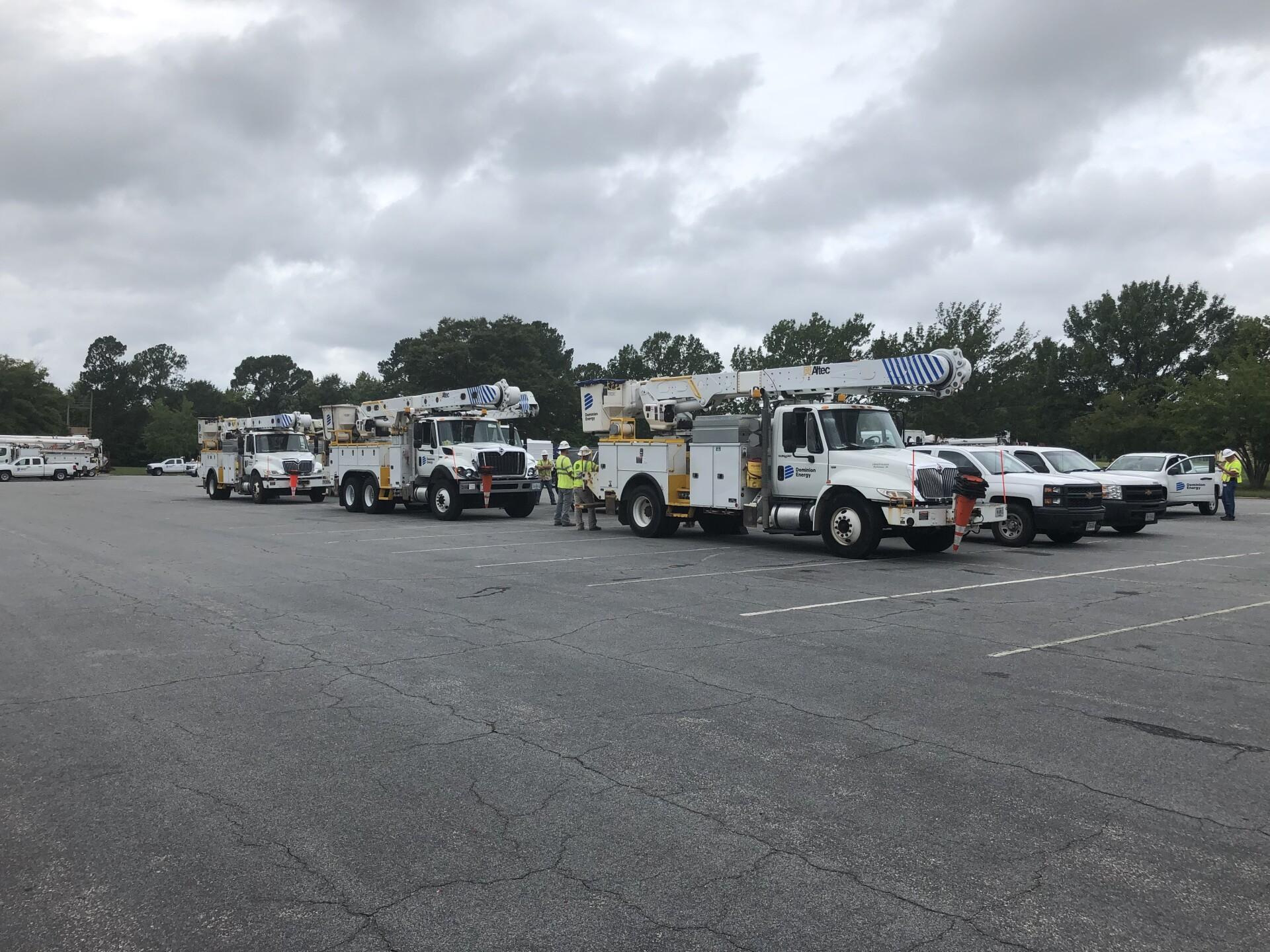 Photos: Extra Dominion Energy crews heading to Hampton Roads to assist in hurricanepreparation