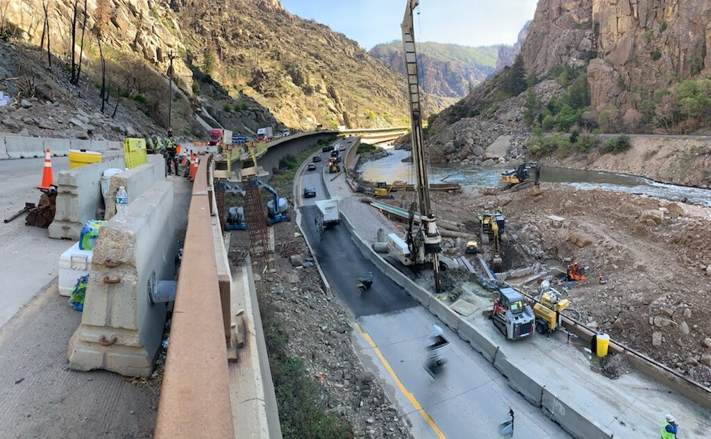 Glenwood Canyon Emergency Repairs project work
