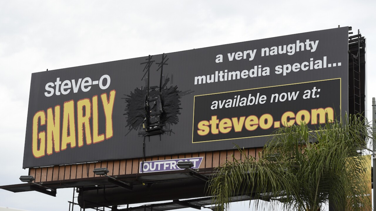 LAFD rescues TV personality Steve-O after he duct tapes himself to billboard