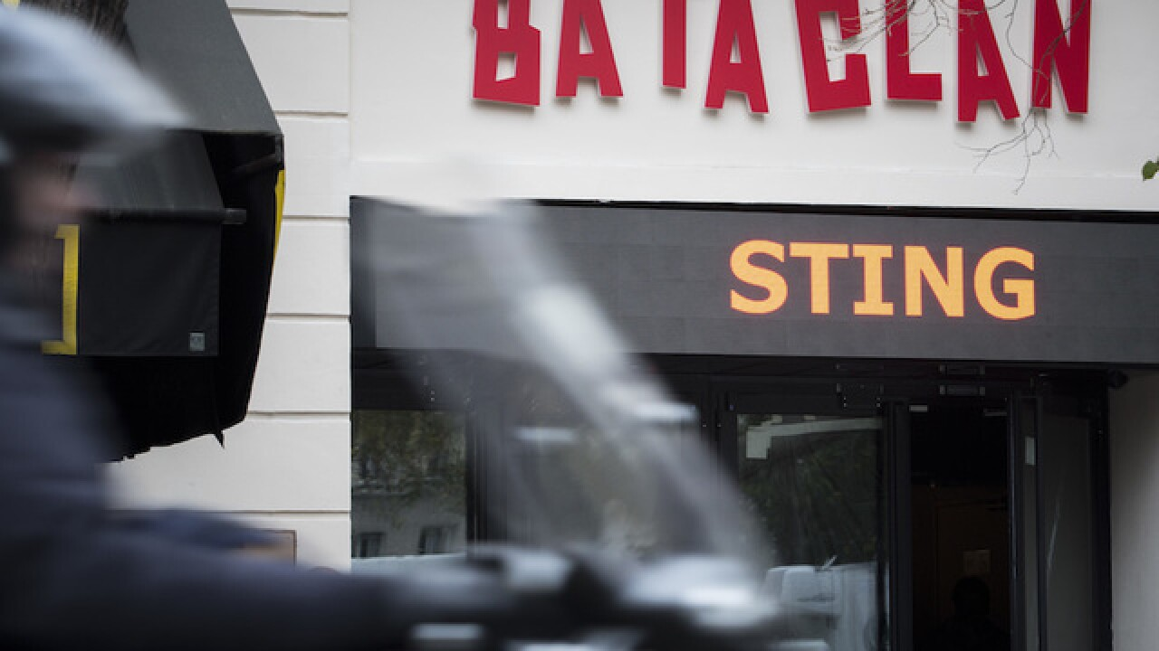 Paris' Bataclan concert hall reopens with Sting show 1 year after shooting attacks